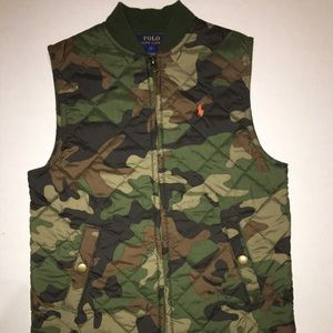 Polo down Vest kids size 6